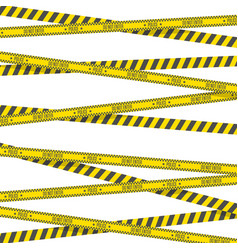 crime scene danger tapes vector image