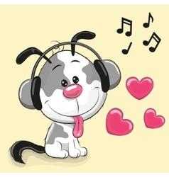 Cute cartoon Puppy vector
