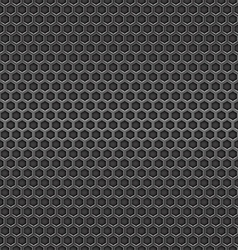 Dark metal cell seamless background vector