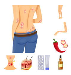 Design pain and dermatology sign vector