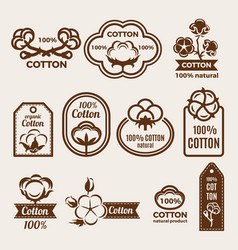 different labels set with stylized vector image vector image