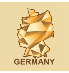 Digital germany map with abstract golden vector image