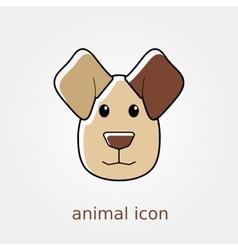 Dog icon Farm animal vector