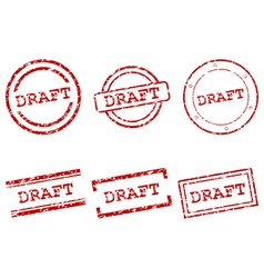 Draft stamps vector
