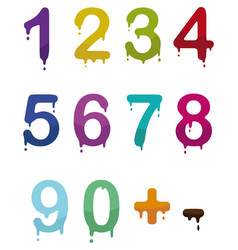 drop numbers vector image