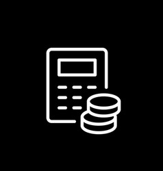 financial calculation line outline icon vector image