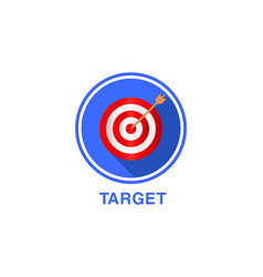 flat icon of target targeting seo marketing vector image
