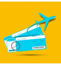 Flight Ticket with Airplane vector