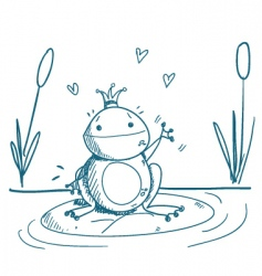 Frog drawing vector