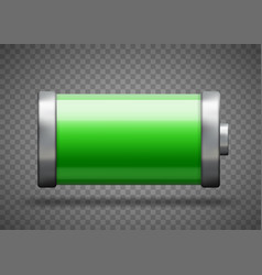 full battery charge status template vector image