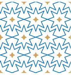 geometric islamic stars seamless pattern vector image