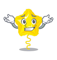 Grinning stars ballon isolated in the character vector