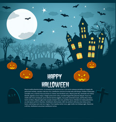 Happy halloween magic night picture vector