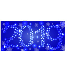 happy new year holiday background with christmas vector image