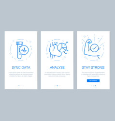 health and medical concept onboarding app screens vector image