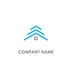 House roof realty logo vector