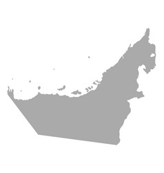 Map of united arab emirates vector