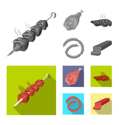 meat and ham logo vector image