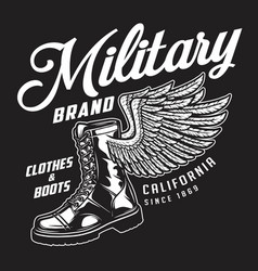 military apparel brand emblem vector image