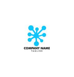 molecule logo template icon vector image