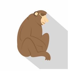 Orangutan monkey icon flat style vector