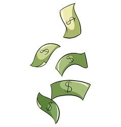Paper bills vector
