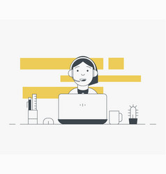 person on laptop working vector image