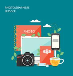 photographers service flat style design vector image