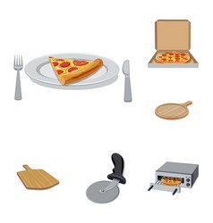 pizza and food sign set of vector image