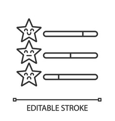 Rating scale linear icon vector