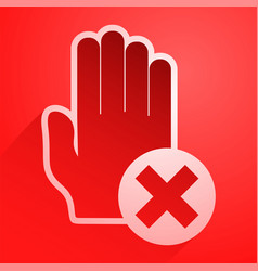 red no pass icon vector image