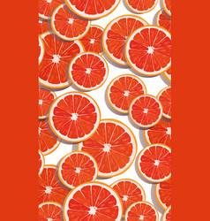 seamless pattern slice orange fruits overlapping vector image