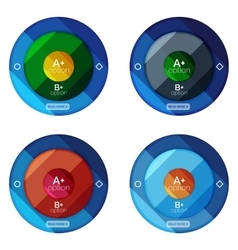 Set of round infographic banners with options vector image
