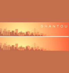 Shantou beautiful skyline scenery banner vector