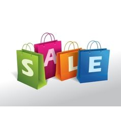 shopping bags on white vector image