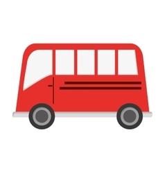 single bus icon vector image