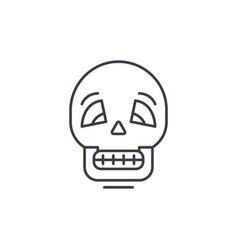 skull line icon concept skull linear vector image