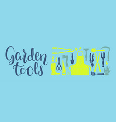 sunny garden set vector image