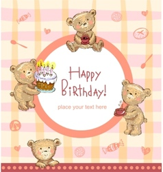 Sweet Birthday greetings vector