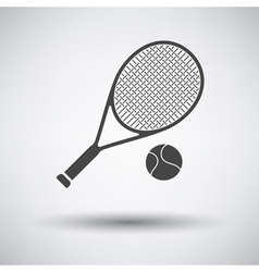 Tennis rocket and ball icon vector image