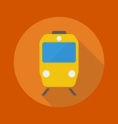 Travel Flat Icon Train vector image