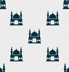 Turkish architecture mosque sign Seamless pattern vector image