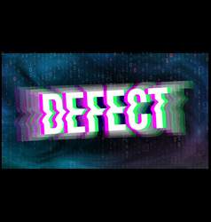 tv screen defect glitch art banner vector image