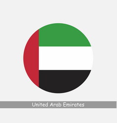 United arab emirates round circle flag vector