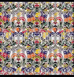 vintage floral damask seamless pattern vector image