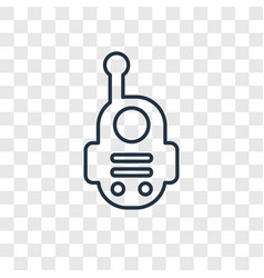 walkie talkie concept linear icon isolated on vector image