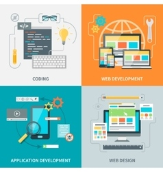 Website Development Picture Set vector
