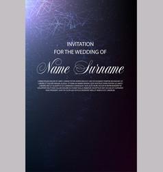 Wedding invitation design in little star light vector