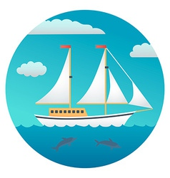 Yacht detailed vector