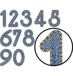 denim numbers vector image